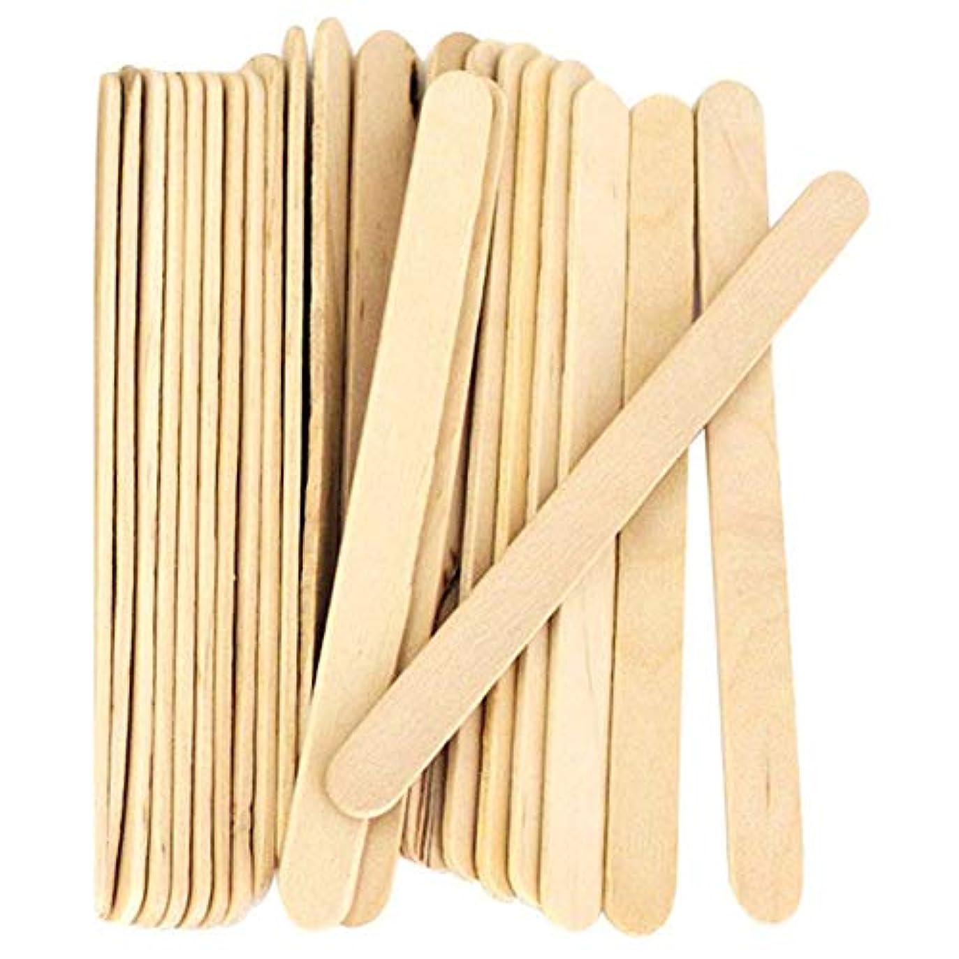 過度の麦芽エスカレーターACAMPTAR 200個、クラフトスティック、アイスクリームのスティック、木製アイスキャンデースティック、114MMの長さ スティック アイスポップスティック 棒