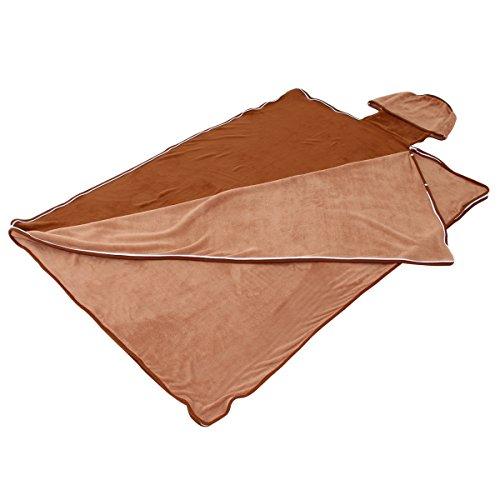BIBILAB (ビビラボ) 巣的な毛布 ブラウン ND1-24 蹴飛ばせない袋形状