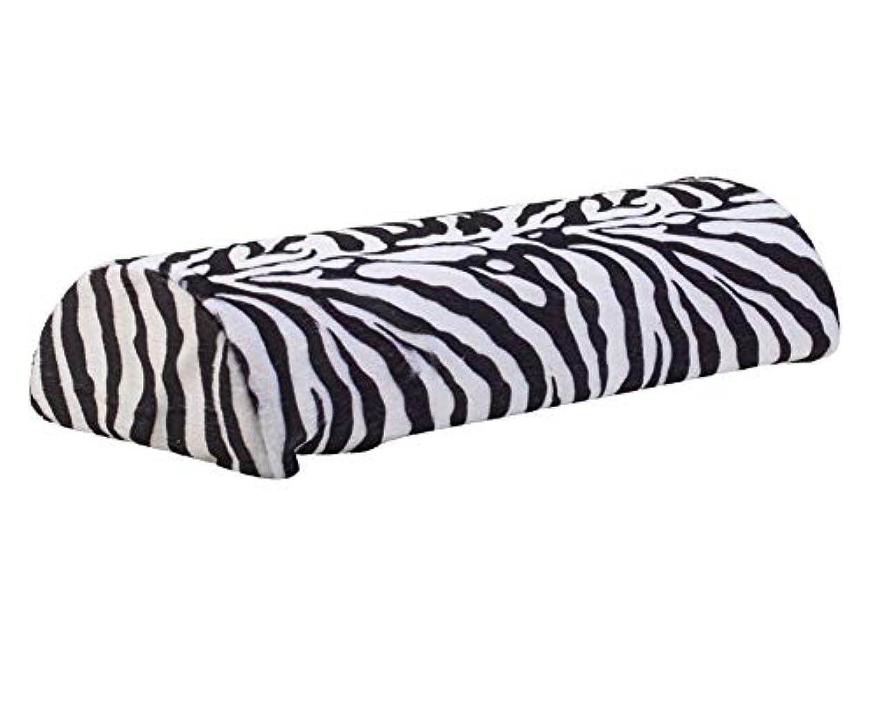 一握りベンチャーマングルマニキュアとネイルアートデザインアプリケーションのための素晴らしい品質のプロフェッショナルサロンツールアクセサリーソフト枕/黒と白色のシマウマパターンでハンドレスト