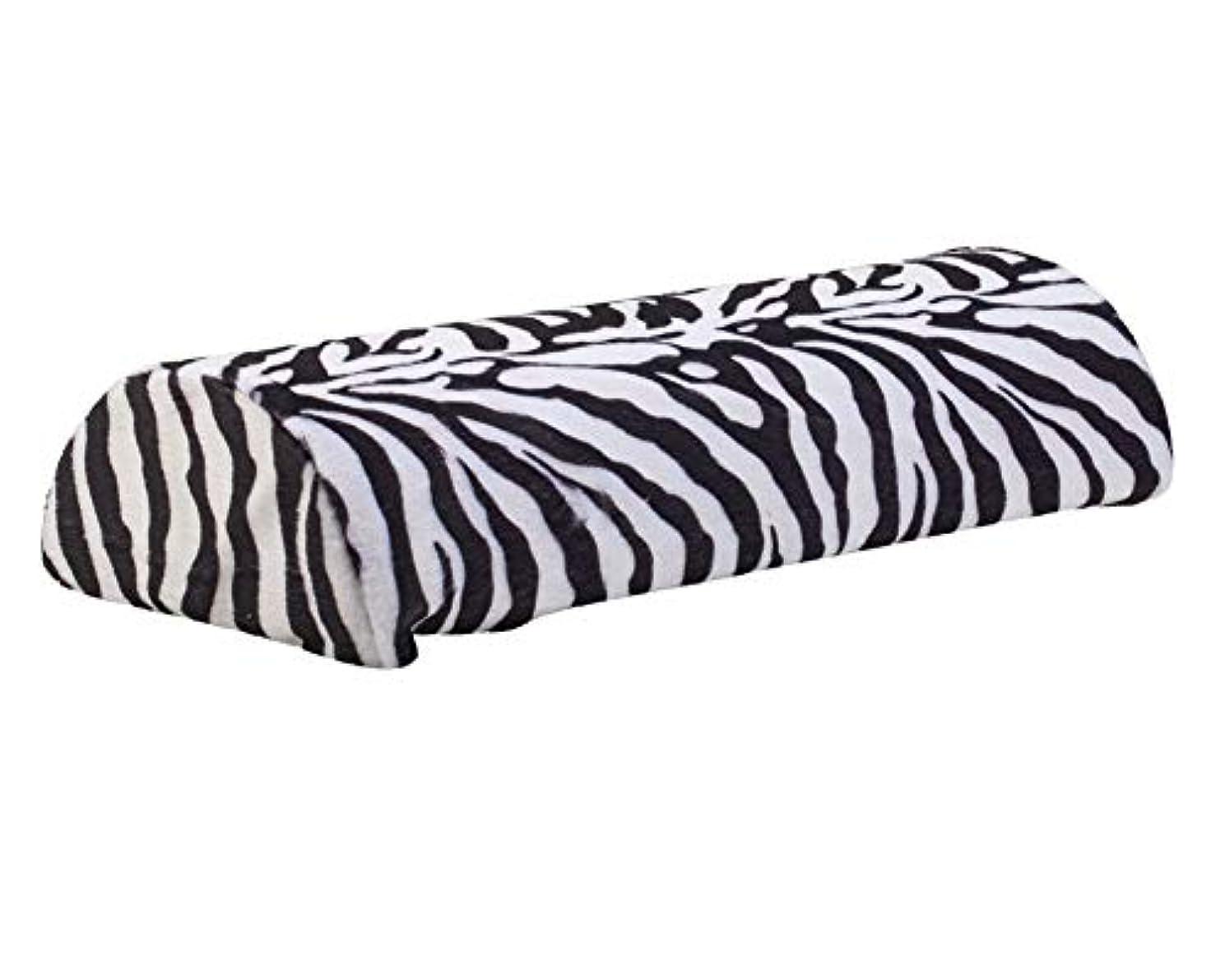 ゴミ箱を空にする先にジャンクマニキュアとネイルアートデザインアプリケーションのための素晴らしい品質のプロフェッショナルサロンツールアクセサリーソフト枕/黒と白色のシマウマパターンでハンドレスト