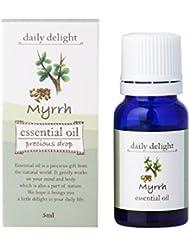デイリーディライト エッセンシャルオイル ミルラ 5ml(天然100% 精油 アロマ 樹脂系 樹脂から採れるムスクに似た味わい深い香り)