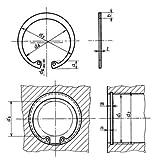 穴用スナップリング(バネ用鋼、HRC44-53) R-34