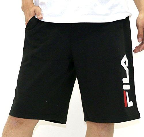 FILA(フィラ) ショートパンツ ブランド ロゴ スウェット メンズ ブラック M
