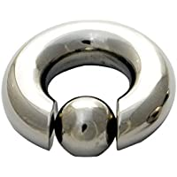 BCR リング フープ 8mm 0G チタン 軽量CBR ボディピアス キャプティブビーズリング