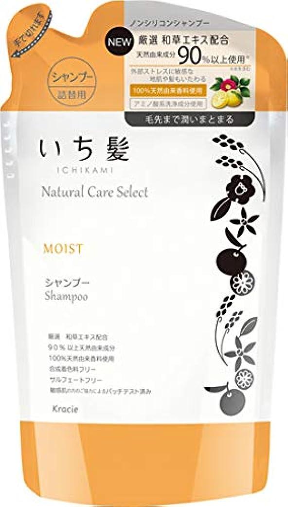 耕す野生着服いち髪ナチュラルケアセレクト モイスト(毛先まで潤いまとまる)シャンプー詰替340mL シトラスフローラルの香り