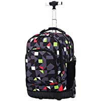 TONGSH New Antifouling Design 18 Inch Wheeled Rolling Backpack Luggage Super Lightweight Waterproof Travel Wheeled Rolling Backpack (Color : E)