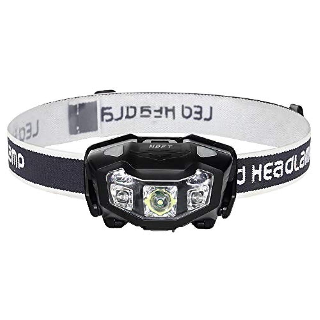別に理解する上流のNPET LEDヘッドライト USB充電式 センサー式 120-320ルーメン 二色 防水 防塵