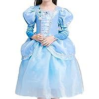 13aa5acbaaf93 YOJAP ドレス 子供 シンデレラ風 コスチューム 子供服 ロングドレス ワンピース ディズニープリンセス キッズコスチューム ハロウィン