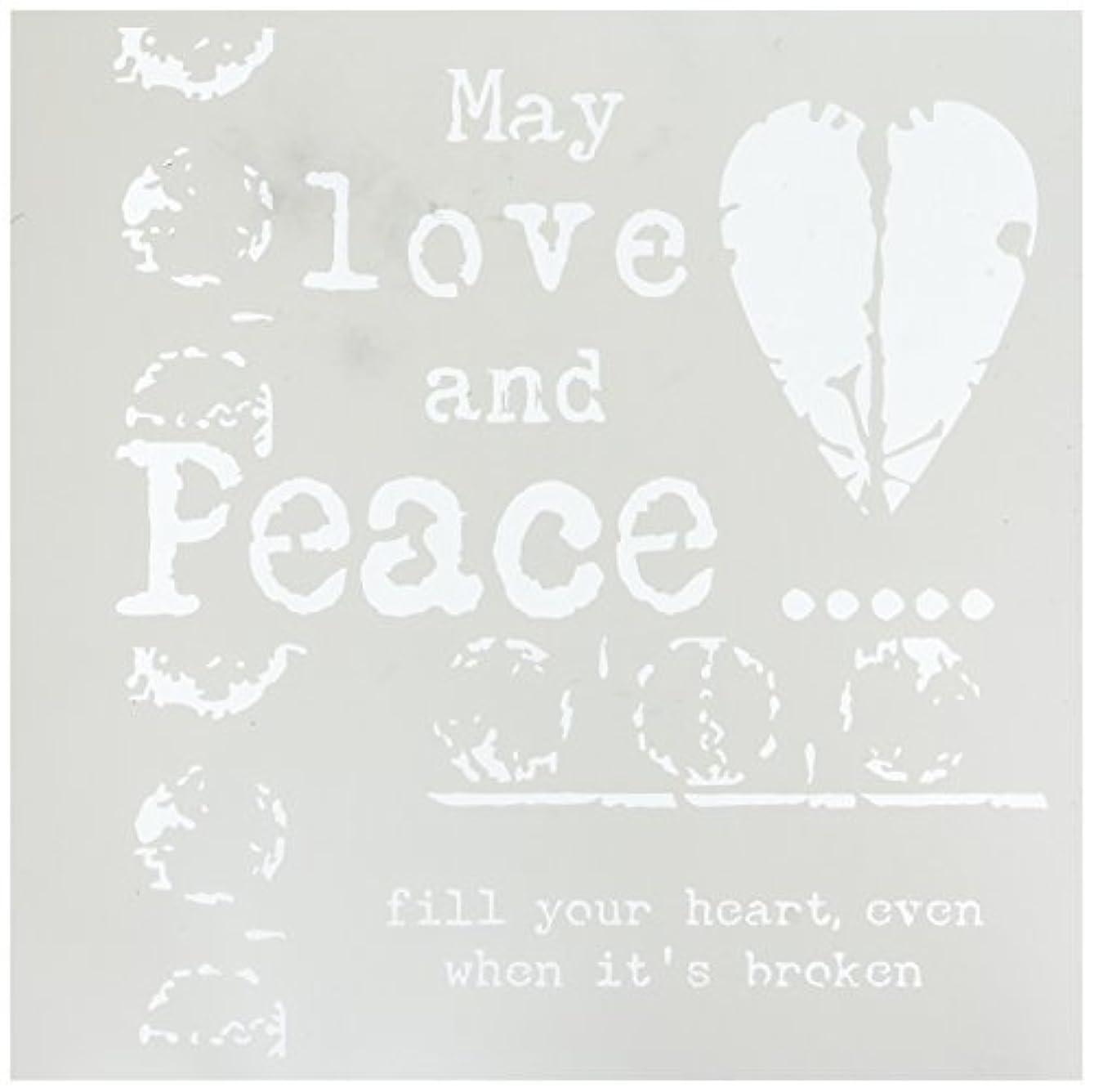 示すフロー恥ずかしいCrafters Workshop Love & Peace Crafter's Workshop Template 12 by 12 [並行輸入品]