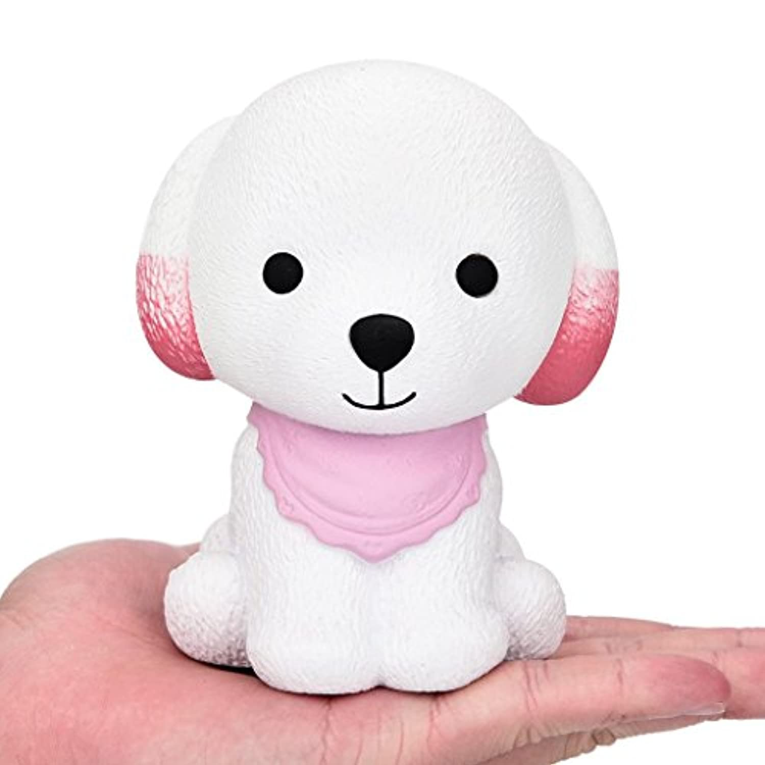Slow Rising子犬Squishies Squeeze Toys by coerni 4.7 * 3.5 * 3.15 inch ピンク OIHU-54UJ5