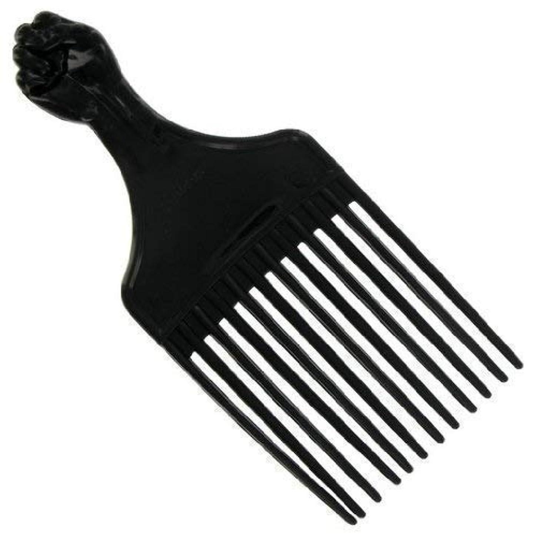 肩をすくめる凝視スクラブAfro Hair Pick (F-7027) [並行輸入品]