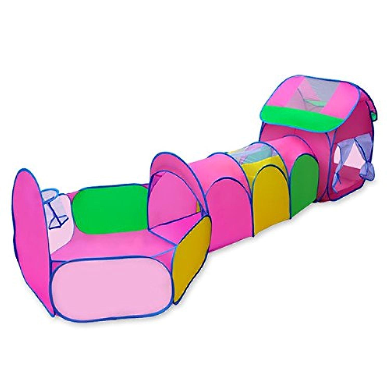 topjin KidsインドアアウトドアBall Pit Play TentチューブトンネルPlayset折りたたみ式Playhouse