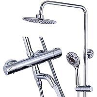 シャワーシステム - 3つのアウトレットシャワーは柔軟性があります調節可能なシャワーハンドシャワー - 豪華なバスルームシャワーセットのためのウォールマウントホルダー - あなたの家にスパを持参