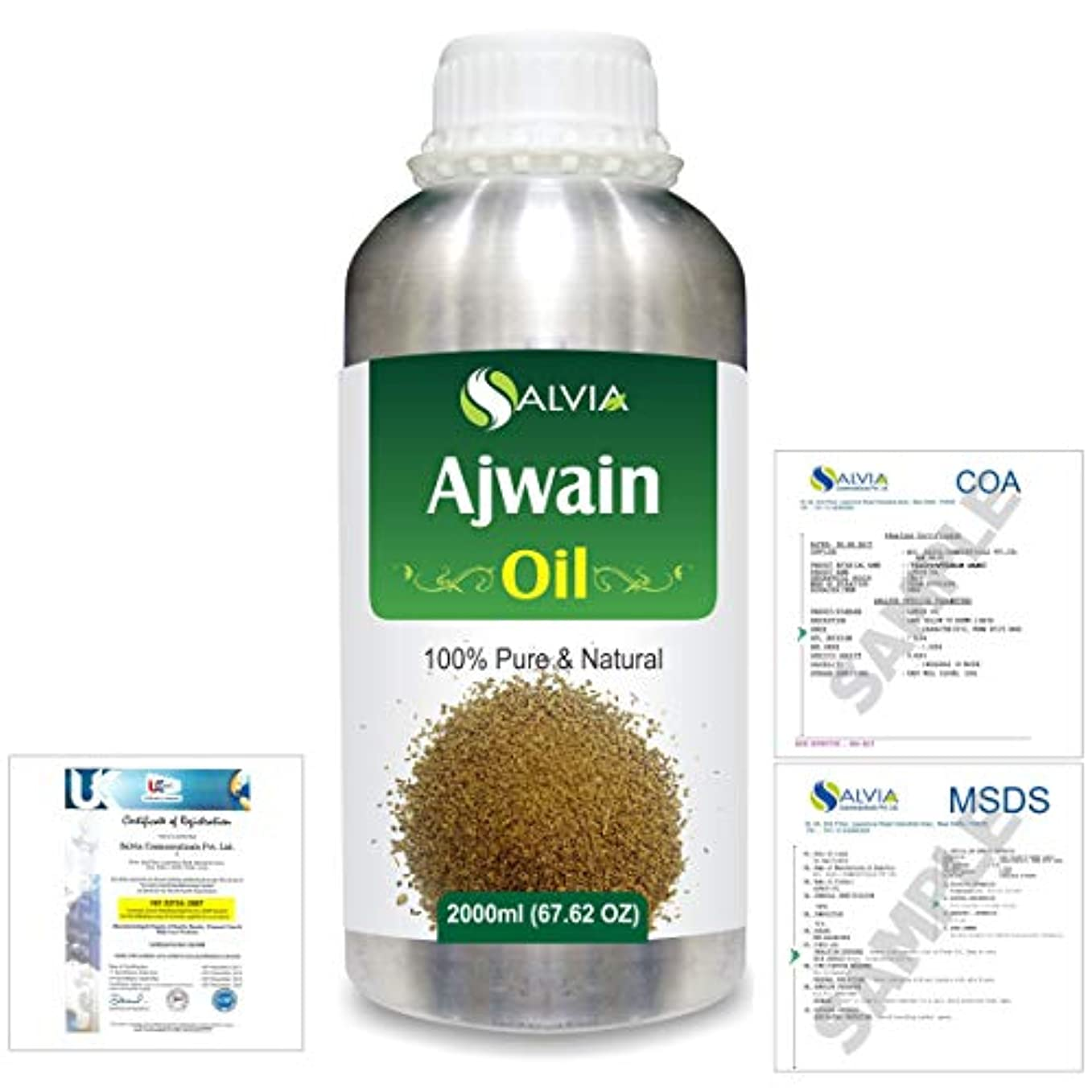 ペグ週末禁じるAjwain(Trachyspermumammi) 100% Natural Pure Essential Oil 2000ml/67 fl.oz.