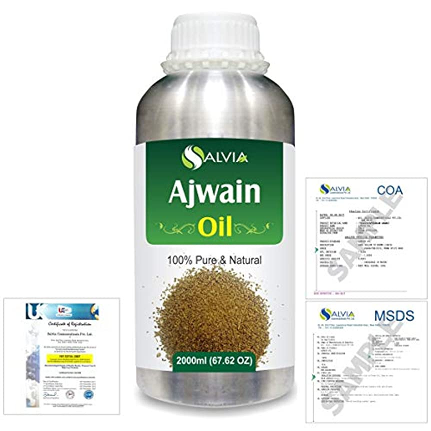 コンチネンタルギャラリー集団的Ajwain(Trachyspermumammi) 100% Natural Pure Essential Oil 2000ml/67 fl.oz.