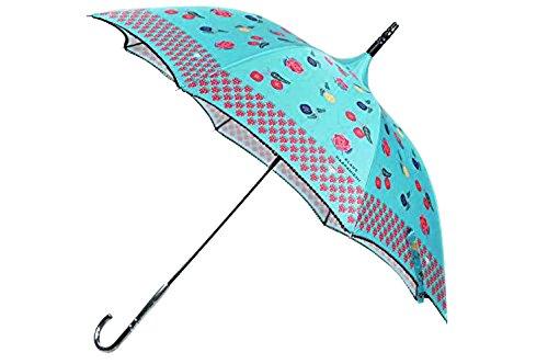 (アナスイ)ANNA SUI クラウス ハーパニエミコラボ パゴタスタイル 雨傘 長傘 / アクアグリーン