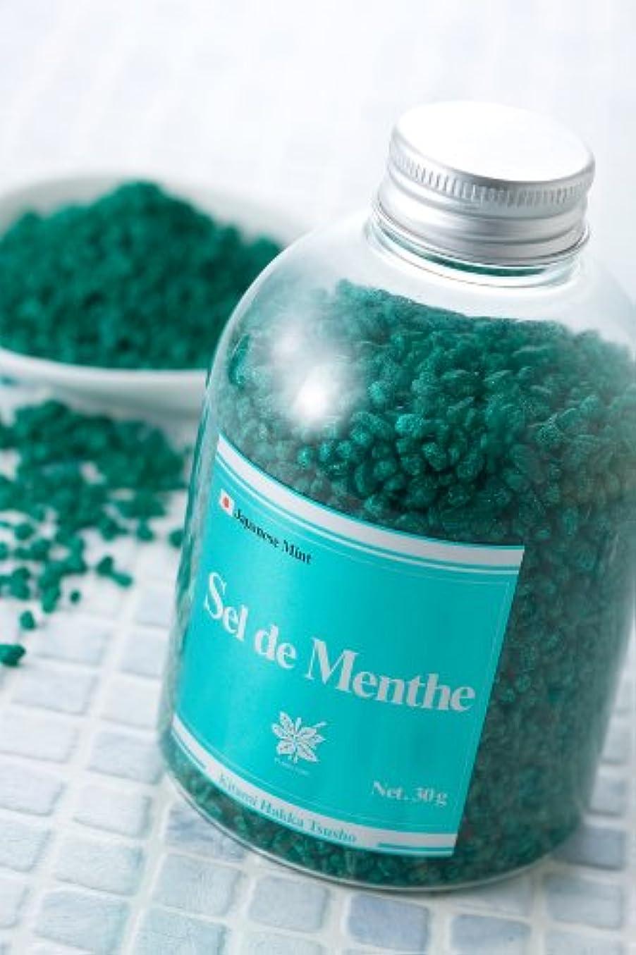 テレマコスニッケル展開する北見ハッカ通商 入浴剤Sel de Menthe(セル?デ?メンタ)徳用ボトル450g