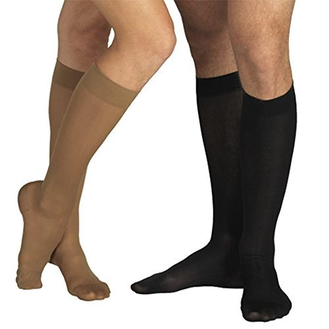 半島有力者写真を描く18-21 mmHg MEDICAL Compression Socks with CLOSED Toe, MODERATE Grade Class I, Knee High Support Stockings with...