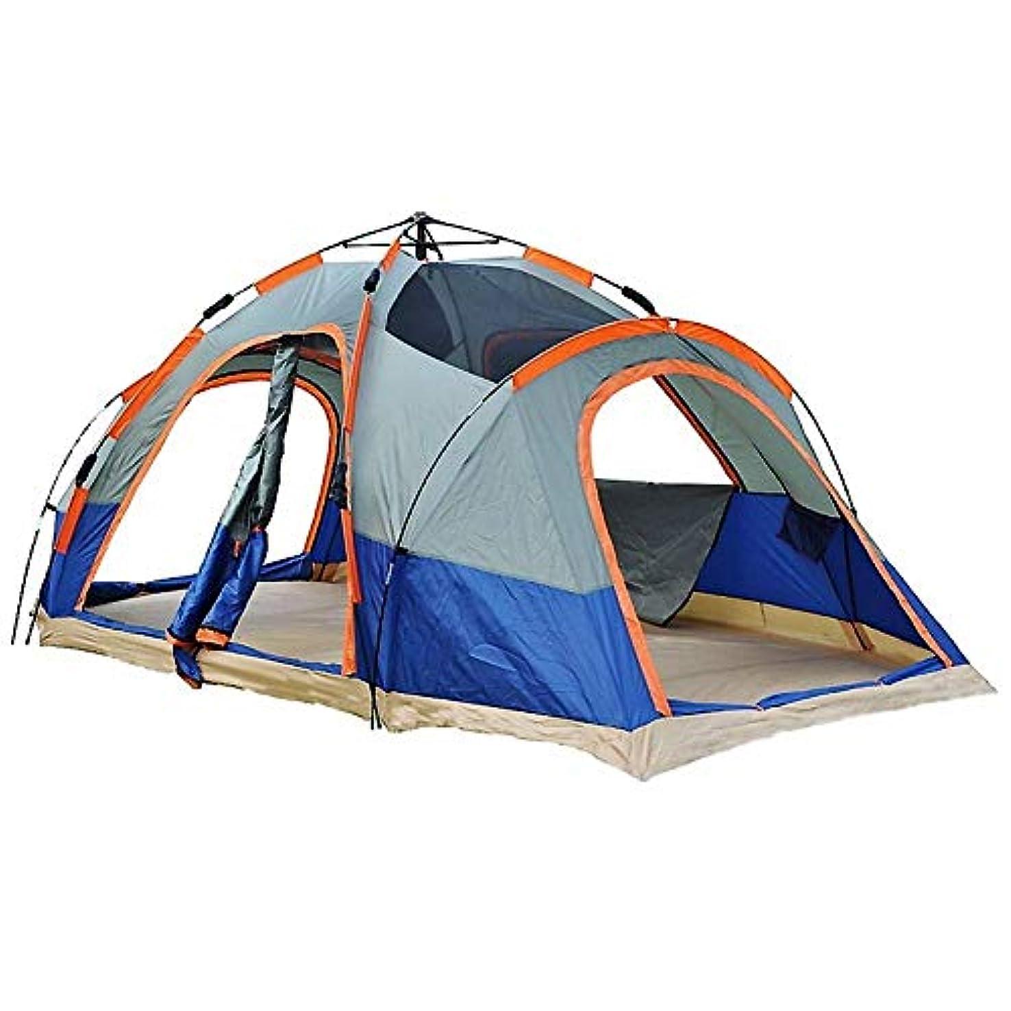 出会い禁止男やもめ自動テント、屋外5-8人多人数ダブルスピードオープン2つの部屋大きな穴付き二重層キャンプ用品ファミリーキャンプテント