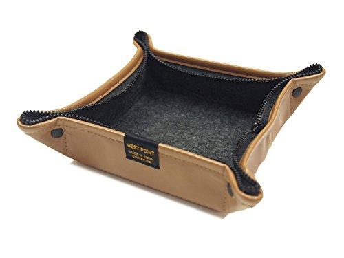ウエストポイント Zip&Go トラベルトレイ&ポーチ シンセティックレザーシリーズ キャメル Mサイズ MIL-807