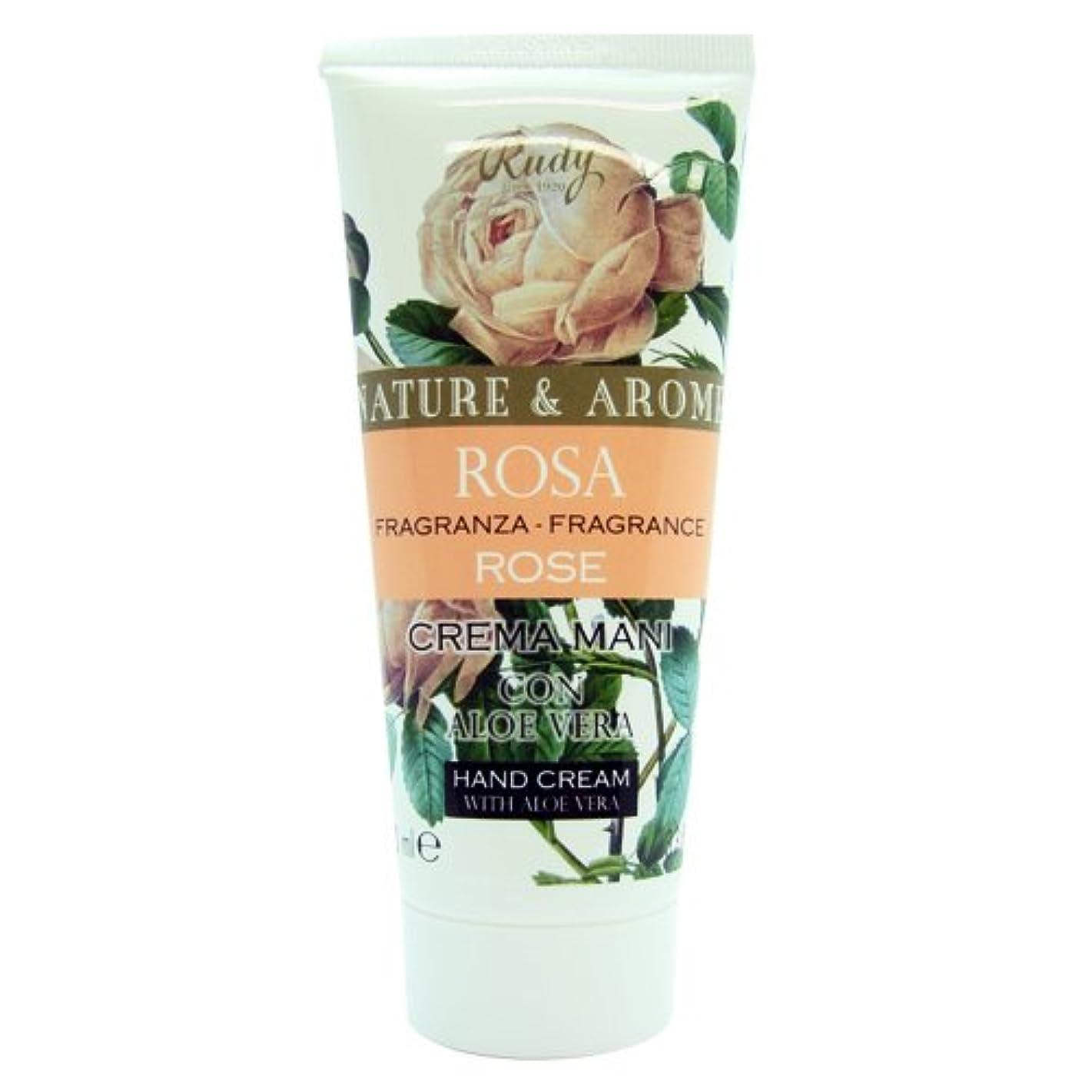 朝妻受け皿RUDY Nature&Arome SERIES ルディ ナチュール&アロマ Hand Cream ハンドクリーム Rose ローズ
