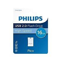 Philips 16GB Pico USB 2.0フラッシュドライブ–ホワイト/ブルー