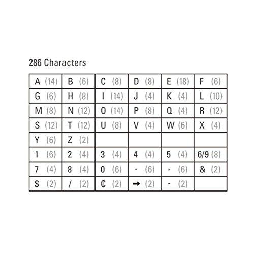 レターズ Letters 《Sサイズ》 286個入り 文字 アルファベット
