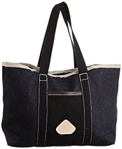 Custom Tote: Indigo / Black