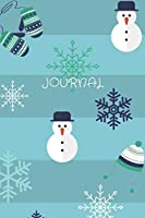 Journal: Softcover Lined Journal Winter/Christmas Snowflake