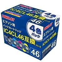 [対応純正品]IC4CL46 プリンタ用互換インクカートリッジ ENEX PEE46DY-4B