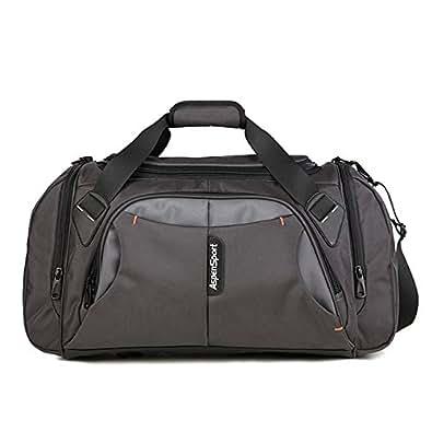ASPENSPORT ボストンバッグ メンズ 2way ショルダー付き 45L大容量 トラベルバッグ ドラムバッグ スポーツ 旅行かばん ビジネス 出張 修学旅行 ギフト プレゼント グレー AS11K10GREY22