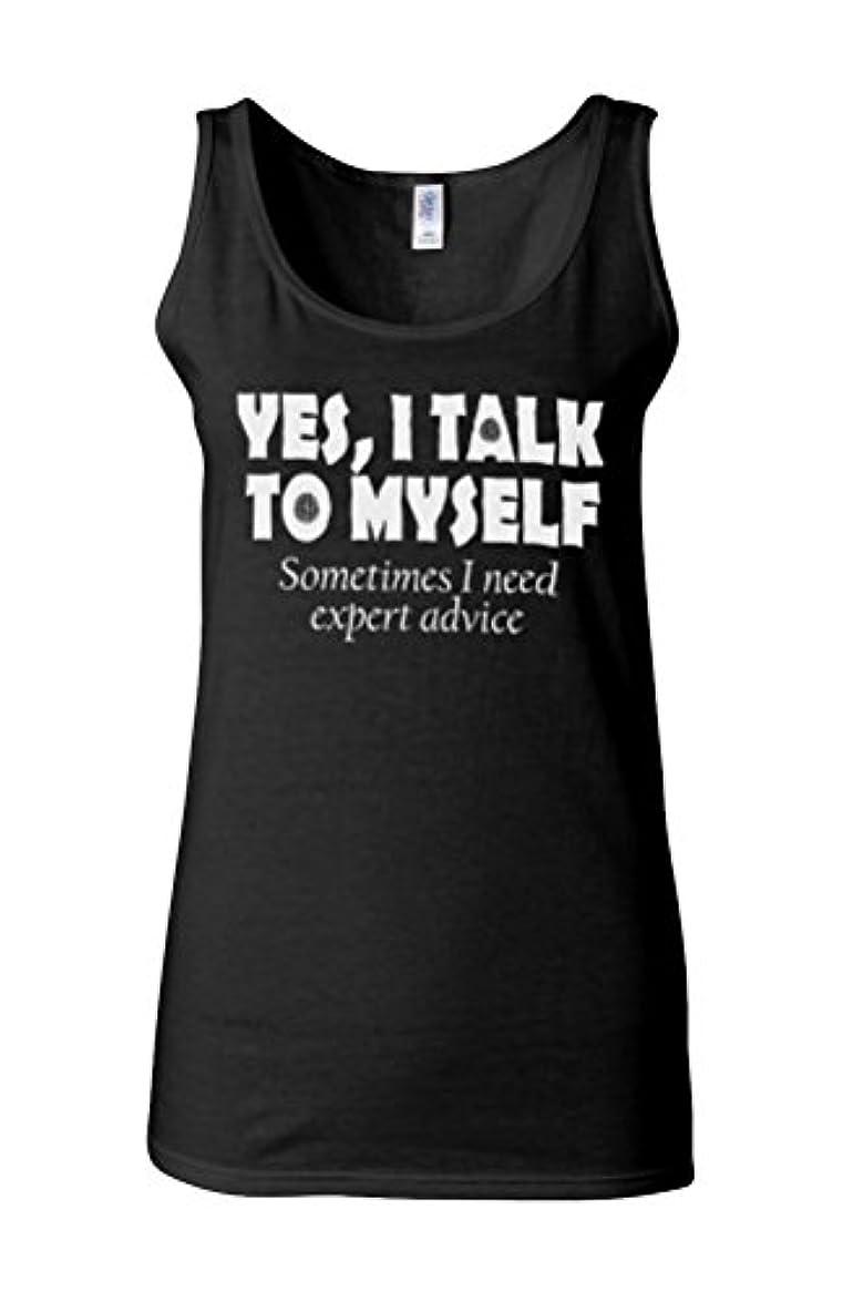 地雷原組立がっかりしたYes I Talk To Myself Sometimes I Need Expert Advice Novelty Black Women Vest Tank Top-S