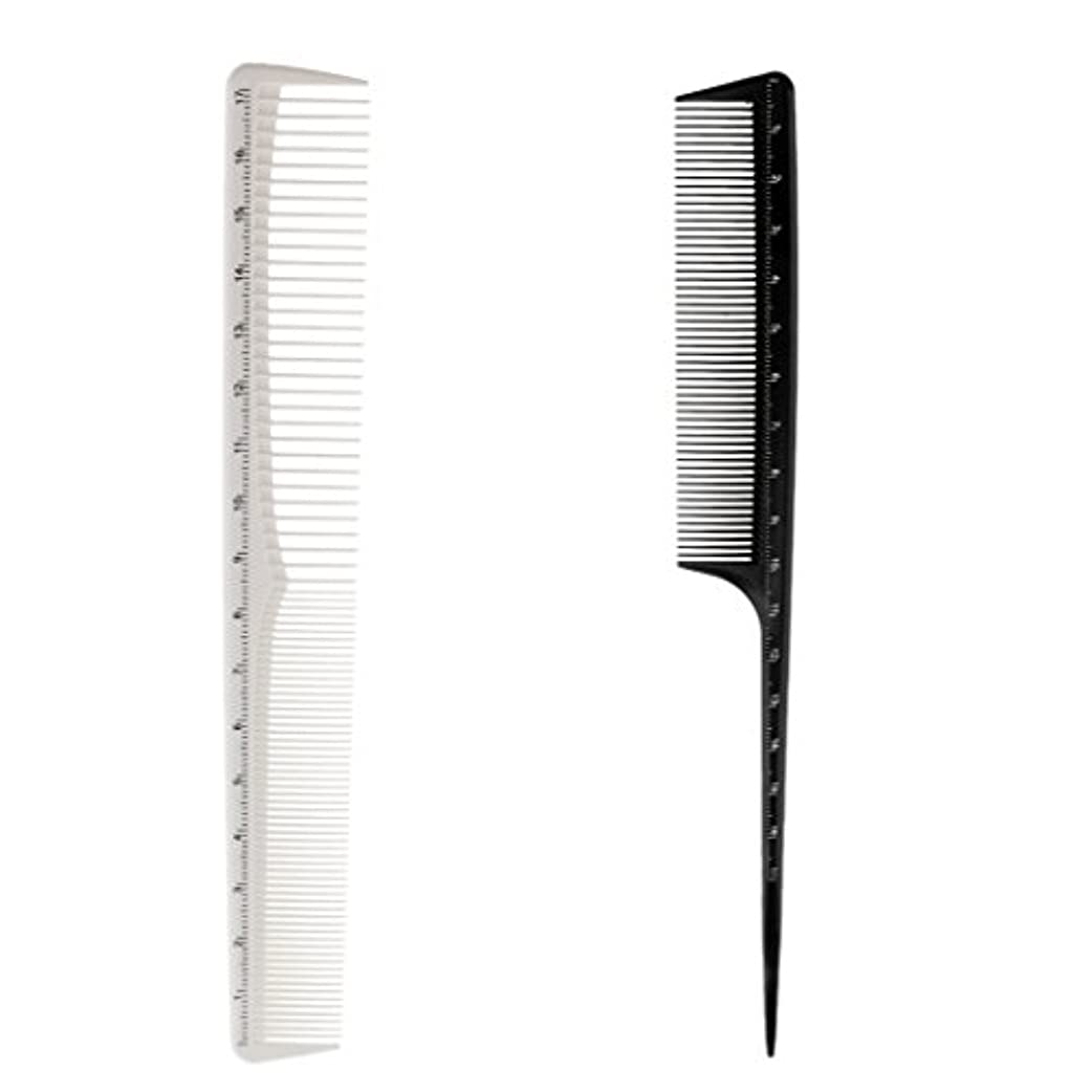珍しい最小化するナインへToygogo 2x樹脂の理髪師のヘアスタイリングのヘアドレスの切断の尾の先端の良い櫛のヘアブラシ