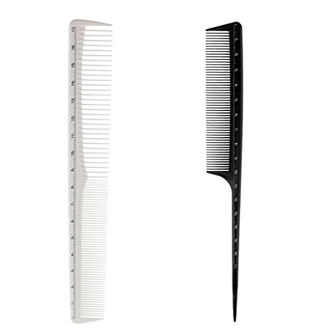 作物血統次へToygogo 2x樹脂の理髪師のヘアスタイリングのヘアドレスの切断の尾の先端の良い櫛のヘアブラシ