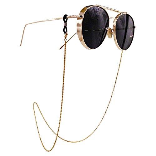 Kalevel 眼鏡 ストラップ ネックレス チェーン ステンレス グラスコード 男女兼用