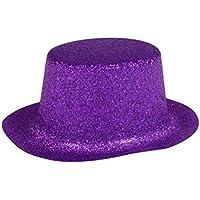 PURPLE Fun Cute Mardi Gras Decoration Mini Glittery Plastic Party Hats (Bonus Party Surprise), 5-ct. Packs
