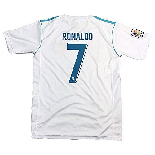サッカーユニフォーム 2017-2018モデル レアルマドリード ホーム クリスティアーノ・ロナウド RONALDO 背番号7 レプリカサッカーユニフォーム 大人用 M