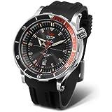 VOSTOK EUROPE (ボストーク ヨーロッパ) 腕時計 K162 ANCHAR(アンチャール) ブラック 革・シリコンバンド/自動巻き/手巻き機能あり/NH35A-5105141 [正規輸入品] メンズ