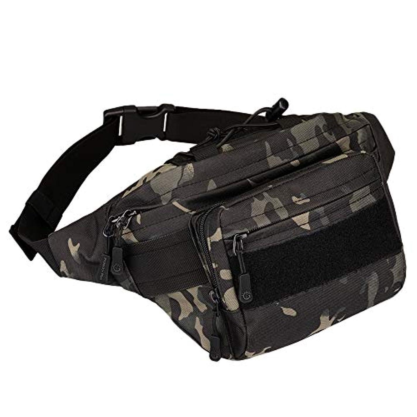 死傷者染色調べるProtector Plus Military Fanny Packタクティカルウエストバッグパック耐水性ヒップベルトバッグポーチアウトドアBumbag