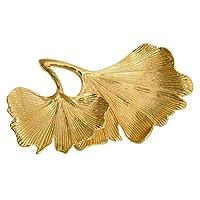 D DOLITY ジュエリー ホルダー スタンド イチョウの葉 リング ネックレス 収納小物 銀杏の葉 かわいい ゴールド