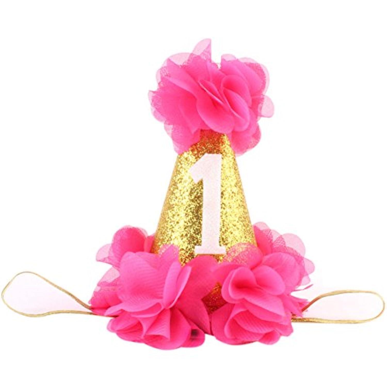 Golden Swallow 1st誕生日ヘッドバンド赤ちゃん最初誕生日帽子パーティーウェア