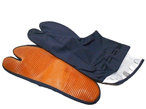 祭りゴム底足袋【きねや】【紺】【4枚こはぜ】【24.5cm】...