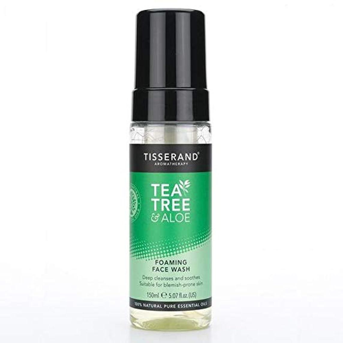 特徴づけるボルト退屈な[Tisserand] 洗顔料の150ミリリットルを発泡ティスランドティーツリー&アロエ - Tisserand Tea Tree & Aloe Foaming Face Wash 150ml [並行輸入品]
