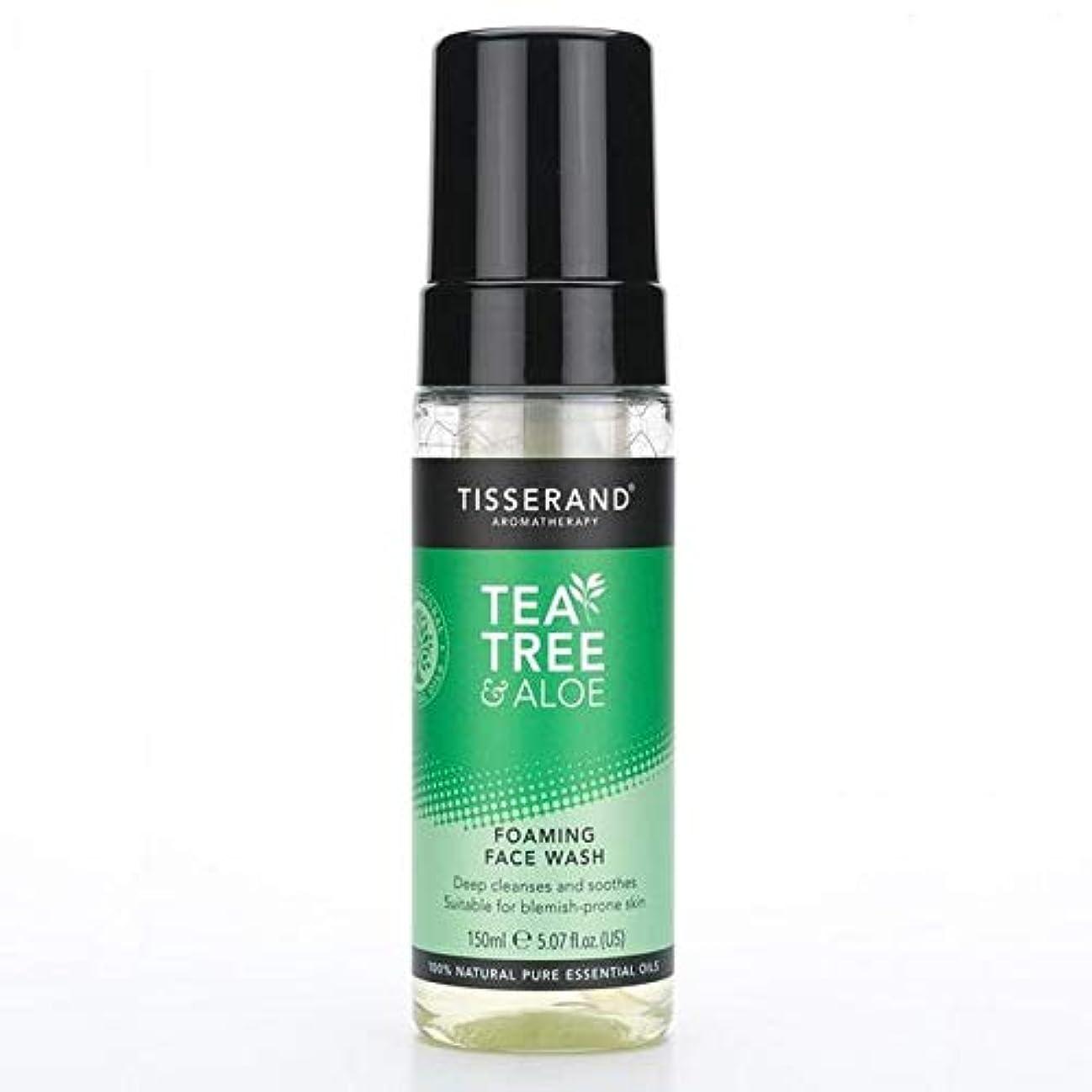 くつろぎ月曜日悲しみ[Tisserand] 洗顔料の150ミリリットルを発泡ティスランドティーツリー&アロエ - Tisserand Tea Tree & Aloe Foaming Face Wash 150ml [並行輸入品]