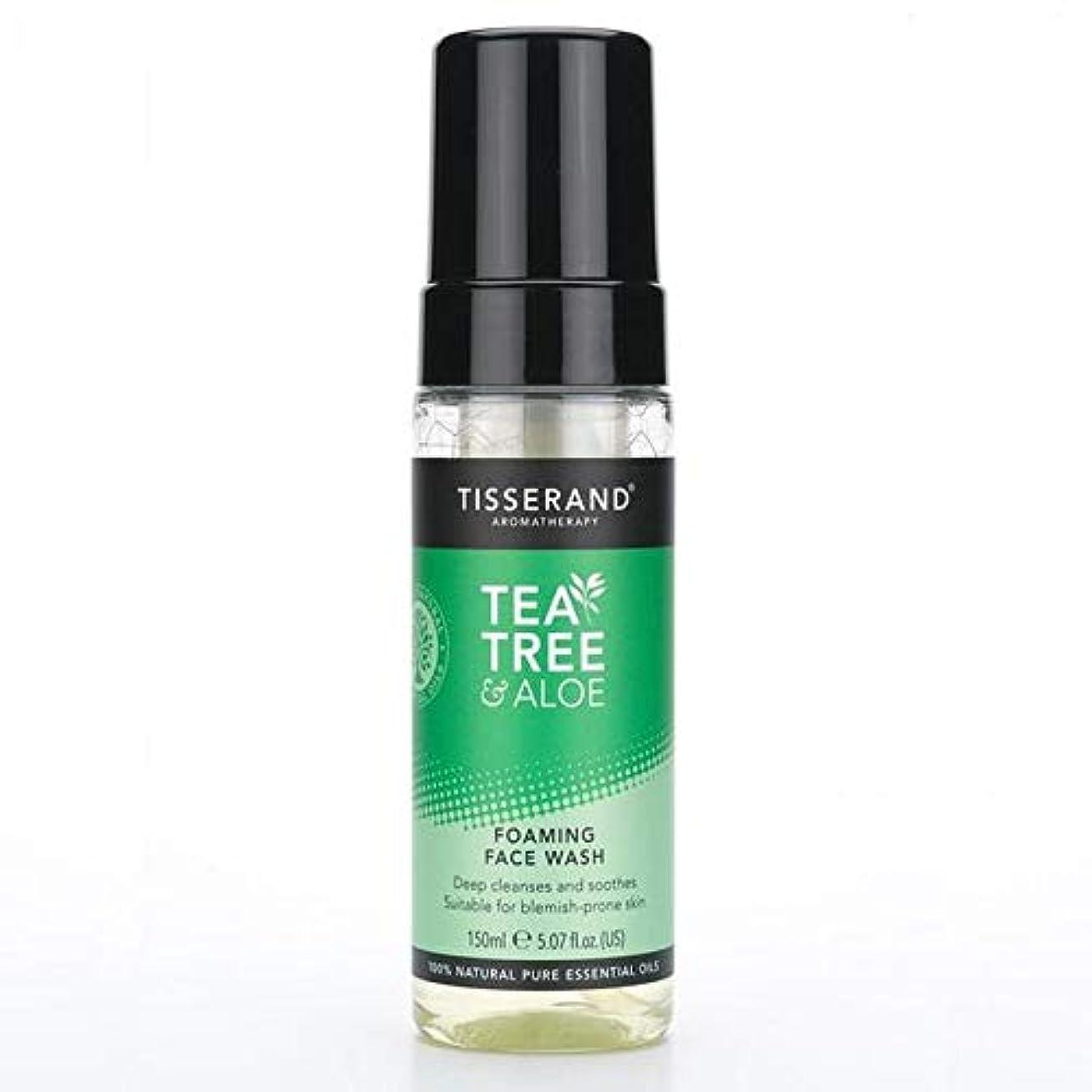 ボリューム突進スリット[Tisserand] 洗顔料の150ミリリットルを発泡ティスランドティーツリー&アロエ - Tisserand Tea Tree & Aloe Foaming Face Wash 150ml [並行輸入品]