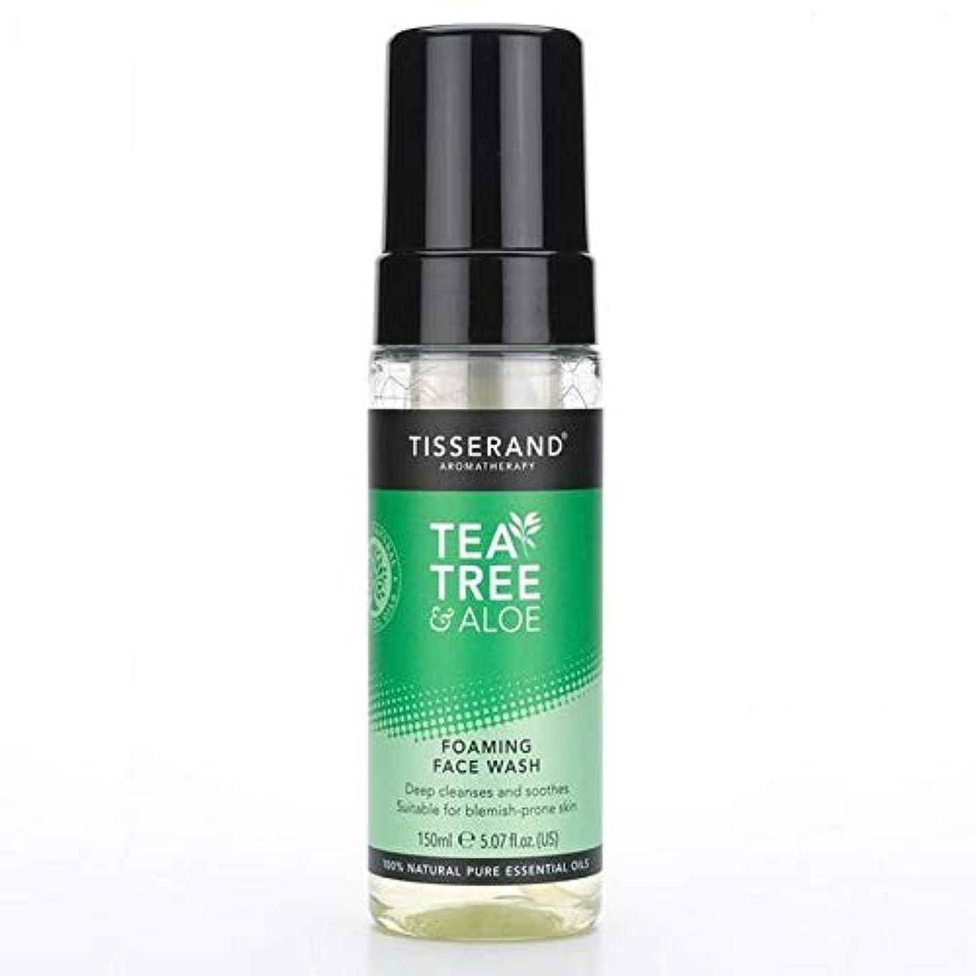 定義誠実慎重[Tisserand] 洗顔料の150ミリリットルを発泡ティスランドティーツリー&アロエ - Tisserand Tea Tree & Aloe Foaming Face Wash 150ml [並行輸入品]