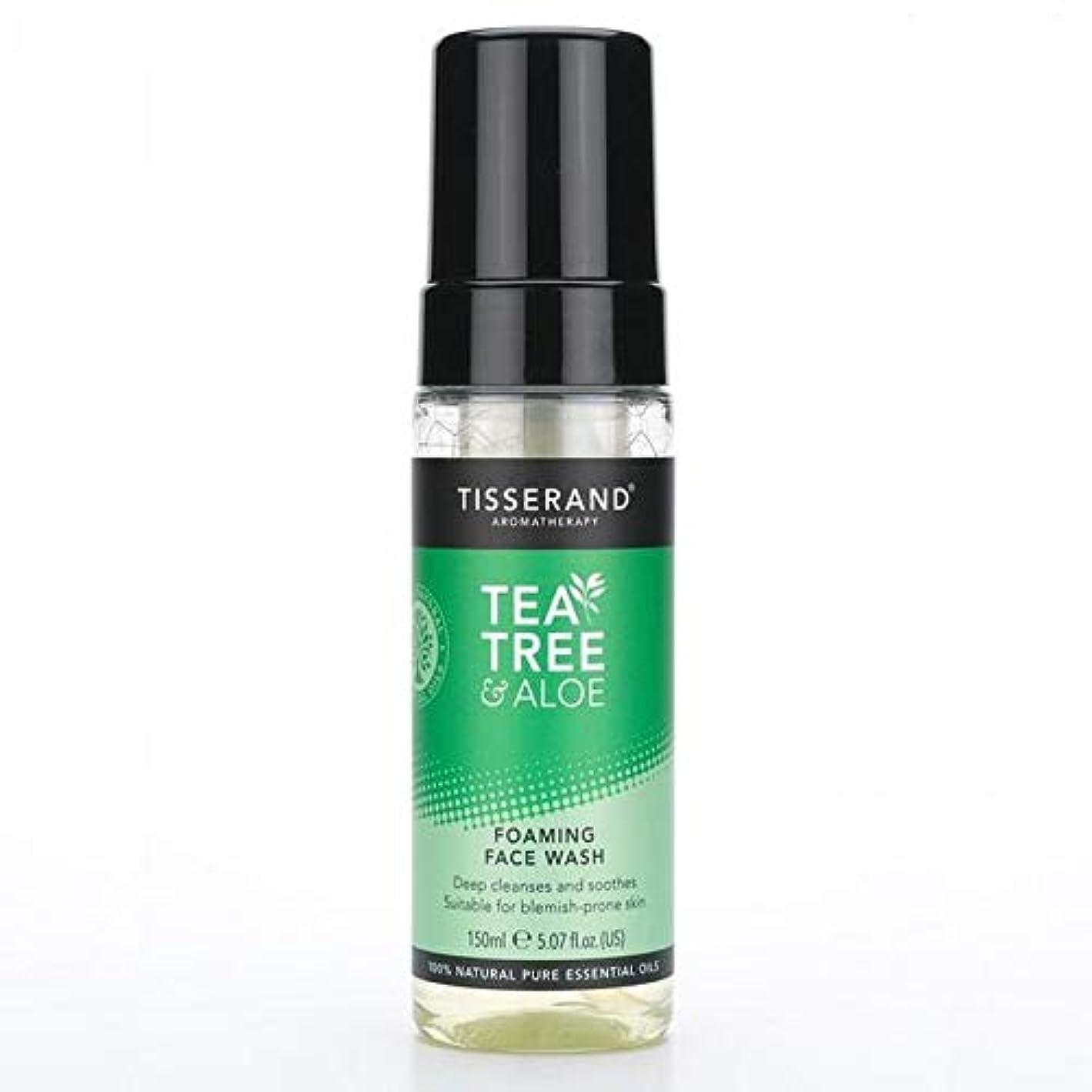 敏感な恐ろしい習熟度[Tisserand] 洗顔料の150ミリリットルを発泡ティスランドティーツリー&アロエ - Tisserand Tea Tree & Aloe Foaming Face Wash 150ml [並行輸入品]