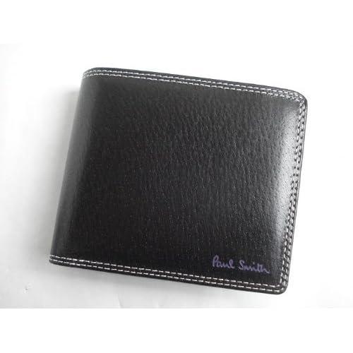 ポールスミス(paul smith) 折財布 ブラック ピックスキン (メンズ)