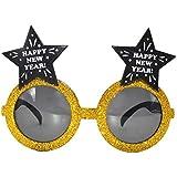 BESTOYARD 3本の新年のメガネメガネブースの小道具、スターパターンの新年イブパーティー好き