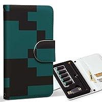 スマコレ ploom TECH プルームテック 専用 レザーケース 手帳型 タバコ ケース カバー 合皮 ケース カバー 収納 プルームケース デザイン 革 その他 模様 シンプル 緑 004314